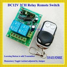 DC 12V 2 CH RF Wireless Remote Control Switches Transmitter+Receiver