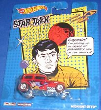 MATTEL REAL RIDERS STAR TREK COLLECTOR HOT WHEELS CARS SULU MIDNIGHT OTTO, NEW