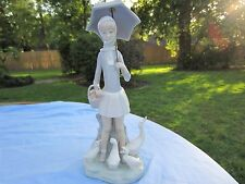 RETIRED LLADRO PORCELAIN # 4510 GIRL WITH UMBRELLA