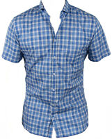 New Hugo Boss Mens Casual Shirt in Blue Colour Size:L