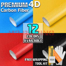 Premium 4d Gloss Carbon Fiber Vinyl Sticker Wrap Decal Sheet Bubble Free Film