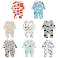 Cartoon Long Sleeve Baby Rompers Newborn Baby Boy Girl Romper Bodysuit Jumpsuit