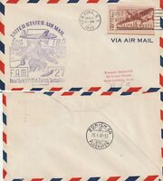 US 1949 TWA FAM 27 FIRST FLIGHT FLOWN COVER NEW YORK NY TO ZURICH SWITZERLAND
