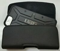 For iPhone X /10  BELT CLIP LEATHER HOLSTER POUCH CASE FITS A UAG CASE ON PHONE