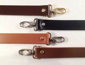 """1"""" Cowhide Leather Cross Body or Shoulder Purse Bag Replacement Strap 8 lengths"""