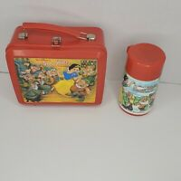 Vintage Disney Snow White and the Seven Dwarfs Aladdin Lunchbox and Thermos