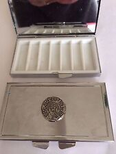 William I Penny Coin WC12 Pewter On Mirrored 7 Day Pill box Compact