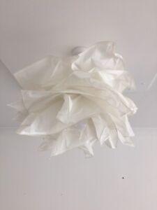 Ikea KRUSNING Pendant lamp shade crumbling paper layers 43cm White