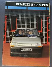 1991 Renault 5 Campus Sales Brochure Folder Nice Original 91