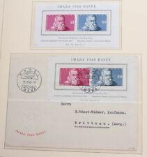 Schweiz 1941 bis 1960 Sammlung mit vielen guten Ausgaben, Blocks, gute Belege
