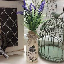 Shabby Chic Bouteille Avec Lavande Française et Script Floral Design (79)