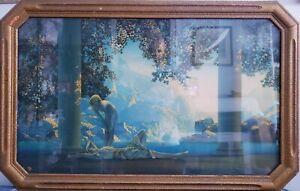Antique Maxfield Parrish Lithograph Print Daybreak LARGE Version  ART DECO FRAME