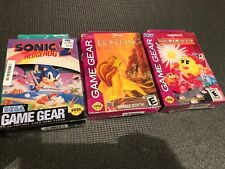 ^^^^ Sonic the Hedgehog 2 The lion King & ms. Pac-man Sega Game Gear New sealed