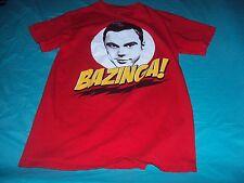Red Bazinga T-Shirt Big Bang Theory Sheldon S Small Officially Licensed