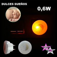 LUZ NOCHE NOCTURNA LAMPARA LED ENCHUFE HABITACION INFANTIL DORMIR OSCURIDAD
