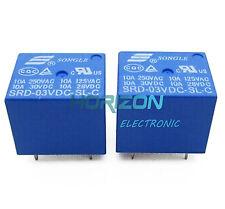 2pcs Mini 3V DC SONGLE Power Relay SRD-3VDC-SL-C PCB Type