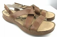 Hush Puppies Tan brown Leather sandals size 10 EU 44 sling back