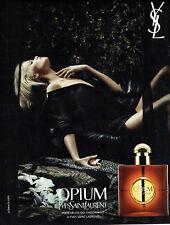Publicité Advertising 127  2015   parfum femme Opium  par Yves Saint Laurent