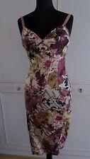 Juste Cavalli Roberto Cavalli corset bustier crayon robe à fleurs IT40UK8US4EU34