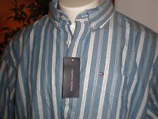 Tommy Hilfiger L/s Custom Fit Multi-striped Full Buttoned Dress Shirt Sz S