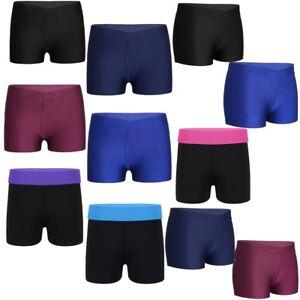 Girls Sports Hot Pants Shorts School Dance Gym Yoga Stretch Shorts Ages 2-14