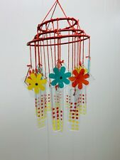 New listing Vintage Japanese Chinese Wind Chimes old hand painted glass