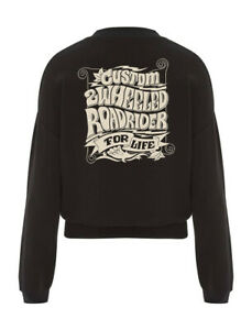 Dragstrip Clothing Women`s 2 Wheeled for Life biker motorcycle Crop Jumper
