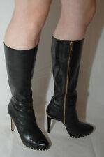 Michael Kors Stiefel Größe 40 Leder schwarz elegant im Originalkarton
