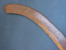 Antique Aboriginal Hooked Boomerang Carved Heavy Wood Stone Cut West Australia