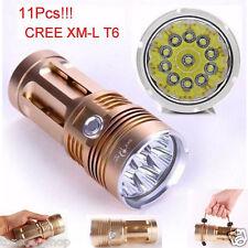 28000LM 11 x CREE XM-L T6 LED 4 x 18650 Lampe Jagd Glanz Taschenlampe Fackel