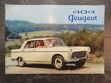 CATALOGUE BROCHURE PROSPEKT PEUGEOT 404 DE 1960