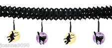 4M Halloween Witch Cat Full Moon Bat Party Decoration Hanging Bunting Garland BN