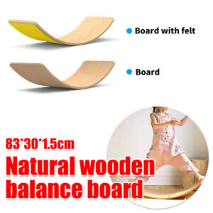 Eco Wooden Toy Balance Wobble Board For Kids Children Stable Yoga Table Training