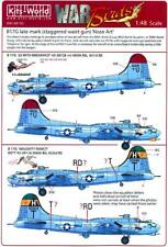 Kits World Decals 1/48 B-17G FLYING FORTRESS LATE MARK WITH STAGGERED WAIST GUNS