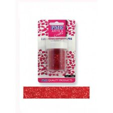 PME Glitter Flakes Cupcake Cup Cake Edible Sugarcraft Decorations Red (7.1g)