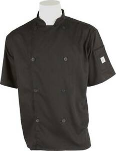 Mercer Genesis Cutlery Short-Sleeved Chef Jacket (Black) | Extra Small (XS)