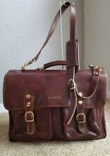 Tuscany Leather Messenger Laptop Bag Briefcase Made in Italy firenze