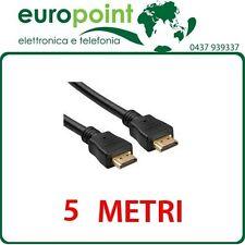 Cavo HDMI da 5mt metri con Ethernet Alta velocità Maschio/Maschio Full HD