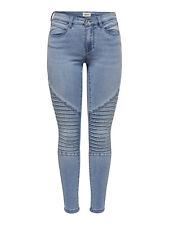 ONLY Damen Jeans Leggings onlROYAL REG SK BIKER ANK BB BJ14951 Jeggings hellblau