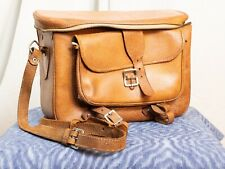 Vintage Leather Camera Bag with Strap.  CARRY A VINTAGE FILM CAMERA IN STYLE.