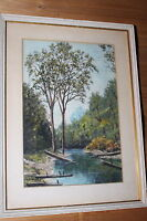 Water Color Painting Listed Artist W. T. Wood Canadian Landscape T. Eaton Frame