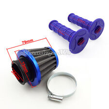 38mm Air Filter Cleaner + Throttle Handle Grip For 50 70 90 110 cc Dirt Pit Bike