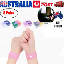 8Pair Anti Nausea Wristbands Travel Sick Bands Motion Sea Plane Car Sickness AU