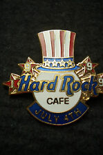 HRC Hard Rock Cafe Online 4th July 1999 Logo with Hat US Flag
