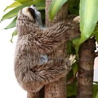 """13.7""""Sloth Plush Animals critters Lying Three Toed Cuddly Soft Stuffed Toy Teddy"""