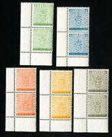 Sweden Stamps # 479-83 VF OG NH Pairs Catalog Value $22.50