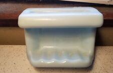 Vintage Retro Baby blue Gloss Ceramic Shower Tub Wall Mount Soap Dish Tray