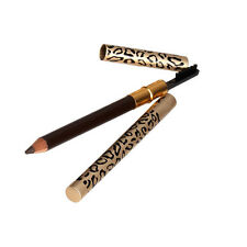 Brown Eyebrow Pencil Two Sides With Brush Leopard Design Metal Casing