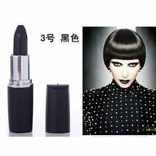 Vampire Style Matte Lipstick Waterproof Makeup Lipstick Dark Purple Black Blue