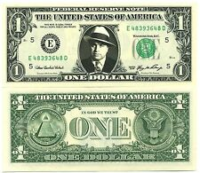 SCARFACE / AL CAPONE - VRAI BILLET 1 DOLLAR! Série GANGSTER Prohibition Mafia US